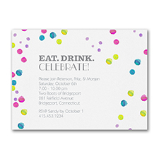 Watercolor Bubbles - Party Invitation